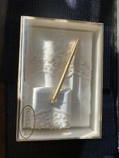 Ivory Davids Bridal wedding guest book with Gold pen Brand New In Box
