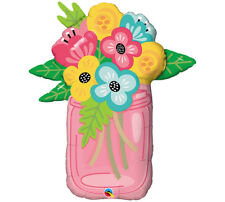 """36"""" Mason Jar Flower Bouquet Mother's Day Birthday Thinking of you Cheerful"""