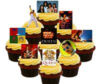 Queen Party Pack 36 Edible Cup Cake Toppers,Fairy Bun Decorations Freddie