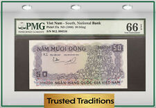 TT PK 17a 1966 VIET NAM 50 DONG PMG 66 EPQ GEM UNCIRCULATED TWO OUT OF THREE
