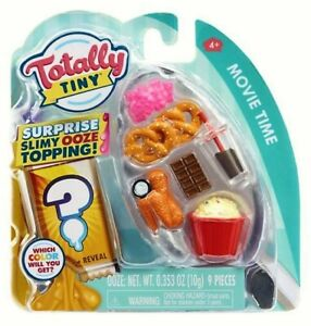 """TOTALLY TINY """"Movie Time"""" w/Surprise Slimy Ooze Topping (9 PC Mini Food) - NEW"""