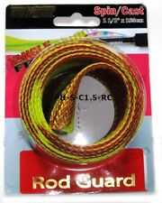 """Spin/Cast Fishing Rod Guard / Protector Cover, Sleeve, 1.5"""" x 165cm, Red/Char"""