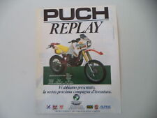 advertising Pubblicità 1986 MOTO PUCH 250 REPLAY
