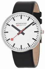 Mondaine Men's A660.30328.11SBB Giant Size Leather Band Watch