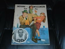 1961 WISCONSIN AT INDIANA COLLEGE FOOTBALL PROGRAM  EX-MINT