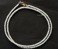 "diamond beads 25ct 20"" natural loose white diamond faceted beads strand necklace"