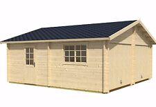 Garage Lasita Maja Blockbohlengarage Falkland Gartenhaus Holzgarage Satteldach