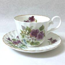 Royal Stuart Purple Violets Tea Cup and Saucer