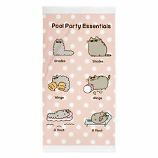 PUSHEEN PARTY BEACH BATH TOWEL LARGE 100% COTTON KIDS GIRLS