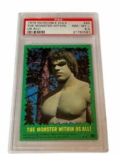 The Incredible Hulk Lou Ferrigno 1979 Topps Marvel Comics Card PSA 8.5 Monster