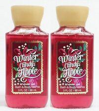 2 Bath & Body Works WINTER CANDY APPLE Travel Size Mini Body Wash Shower Gel