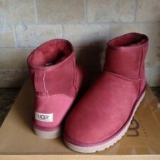UGG Australia Classic Redwood Suede Sheepskin Mini Ankle Boots Size US 11 Womens