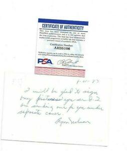 Byron Nelson Autographed Govt Postcard PSA PGA Tour Professional Golfer dec 06