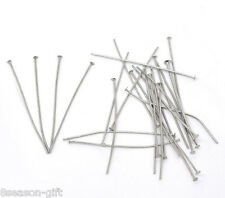 GIFT 300PCs Silver Tone Flat Head Pins 0.7x50mm(21 gauge)