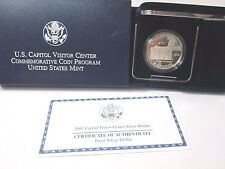 2001 Capitol Visitor Center Proof Silver Dollar Commemorative