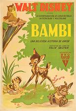 BAMBI MANIFESTO WALT DISNEY ANIMAZIONE