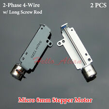 2PCS Miniature 2-Phase 4-Wire Stepper Motor 8mm Mini Stepping Motor linear screw