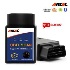 ELM327 V1.5 Bluetooth OBD2 Scanner Code Reader Android Torque ELM 327 OBDII OBD