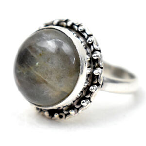 925 Solid Sterling Silver Ring Natural Labradorite H to Y UK Ring Size RSV-1199