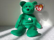 Ty Beanie Babies Retired Erin Bear Irish Green Shamrock Rare Collectible Toy