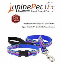 "Lupine Lifetime LIMITED Design Dog Collar or Leash - 3/4""- Stunning RIPPLE CREEK"