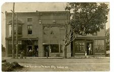 Sodus NY - NEW POST OFFICE & BANK BUILDING - RPPC Postcard