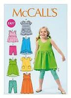 McCalls Sewing Pattern 6947 Girls Childs Dress Top Leggings Size 6-8