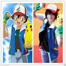 Jacket Cosplay Ketchum Hat Trainer Gloves + + Ash Shirt Costume Pokemon