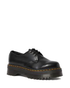 Dr. Martens 1461 Quad 3 Eye Black Polished Smooth Shoes 25567001 UK3-7