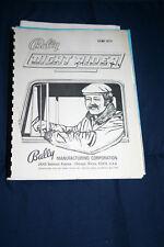 Bally Night Rider (Ss) pinball machine manual (#Man048)