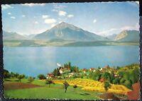 Switzerland Gunten am Thunersee mit Niesen - posted 1987