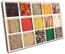 Spices Food Kitchen SINGLE DOEK WALL ART foto afdrukken