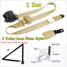 3 Point Retractable Safety Seatbelt Auto Car Seat Belt Lap Shoulder Adjustable
