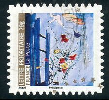 TIMBRE FRANCE AUTOADHESIF OBLITERE N° 372 / MEILLEURS VOEUX / ART
