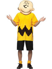 "Size: 44""-48"" chest Charlie Brown Costume Fancy Dress Peanuts Cartoon BN"