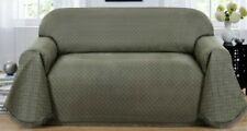 CLEARANCE--GREYISH GREEN--MATRIX LOVESEAT THROW COVER-ALSO COMES IN BLUE & BROWN