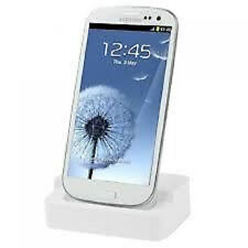 Desktop Charger & Sync Docking Station Cradle for Samsung Galaxy SIII S3 WHITE