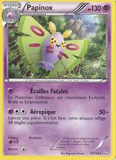 Papinox -Noir & Blanc-Dragons Exaltés-47/124-Carte Pokemon France Neuve