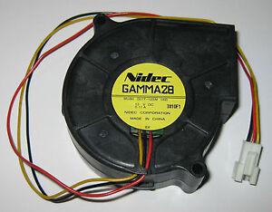Nidec Gamma 28 Blower Fan - 2000 RPM - Long Leads with Connector  28 dBA Gamma28