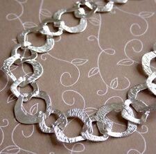 Silver tone Fancy Big Links Chain - 1 metre