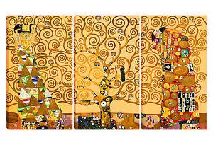 Quadro moderno KLIMT- ALBERO DELLA VITA tela canvas 70x120 arredo casa ufficio