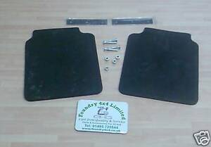 Land Rover Discovery 1  Set of Rear Mud Flaps & Fittings  RTC6821