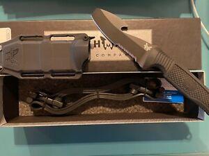 "Benchmade 112SBK-BLK H2O Fixed 3.5"" Blade Dive Knife Black Sheath"