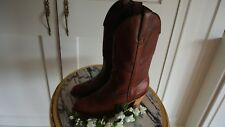 Miss Capezio Womens Red Brown Leather Cowboy Boots SZ 71/2M