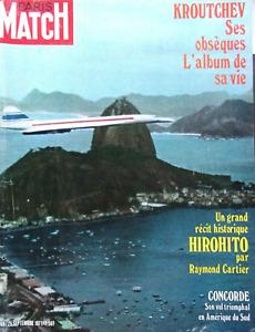Paris Match n° 1168 du 25 septembre 1971 - Le vol triomphal du Concorde