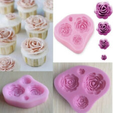 Cute 3D Rose Flower Fondant Cake Chocolate Mold Silicone Mould Modelling Decor