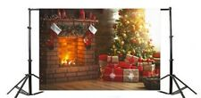10x6.5ft Background Xmas Christmas Tree Gifts Fireplace Backdrop Photo Prop Show