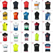 2021 Mens cycling jerseys Cycling Vests Windproof vest Sleeveless Jersey Pockets