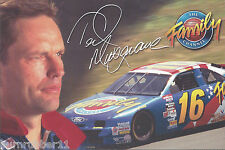 """1996 TED MUSGRAVE """"THE FAMILY CHANNEL"""" #16 NASCAR WINSTON CUP POSTCARD"""