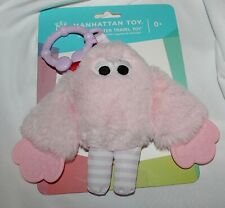 New Baby Girl Manhattan Toy Pink Monster Teether Rattle Activity Car Seat Toy